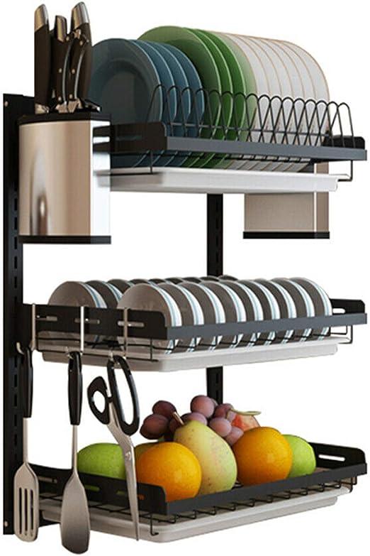 Dish Rack Drainer Dry Organizer Cutlery Holder Utensil Kitchen Stainless Steel