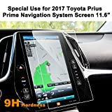 Toyota Prius Prime 2017 11.6 Inch Car Navigation Screen Protector Glass,LFOTPP [9H] Tempered Glass Center Touch Screen Protector Against Scratch High Clarity