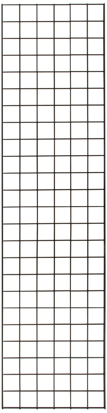 KC Store Fixtures A04240 Gridwall Panel, 18'' W x 6' H, Black (Pack of 4)