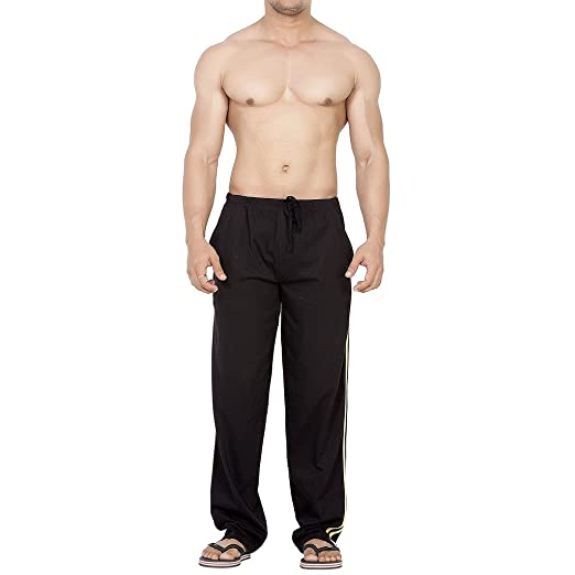 Amazon Com Clifton Men S Fine Jersey Cotton Striper Track Pant