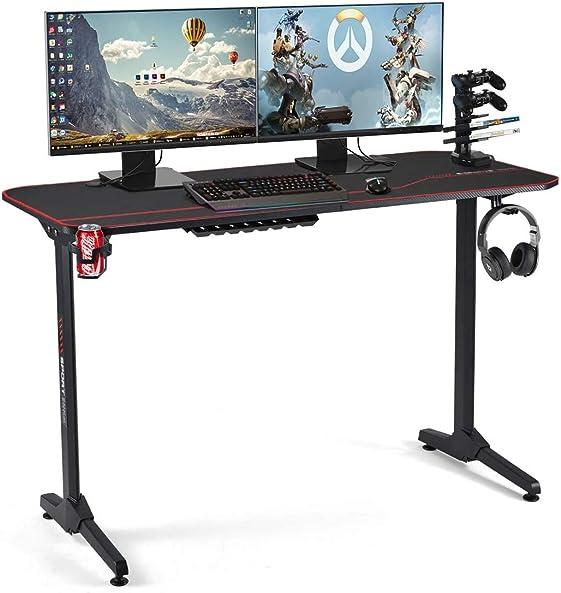 YOLENY 55inch Ergonomic Gaming Desk,PC Computer Table