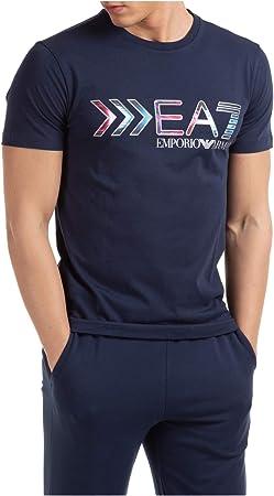 Emporio Armani EA7 Hombre Camiseta Navy Blue