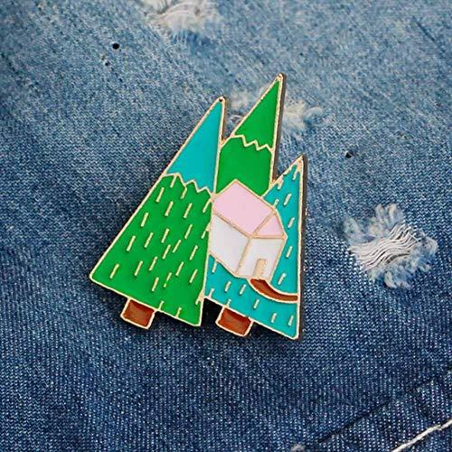 85style Enamel Collar Pins Badge Corsage Cartoon Brooch Fashion Jewellery | Color - #11-Tree ()
