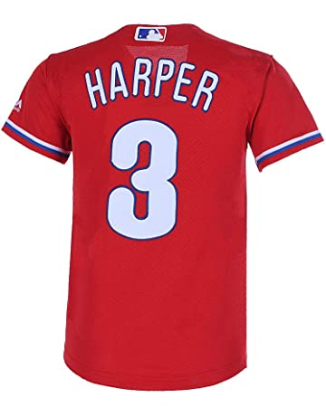 5bf04930129 Outerstuff Youth 8-20 Bryce Harper Philadelphia Phillies Base Player Jersey