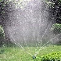Techwills Aspersor de césped, aspersor de jardín, aspersor de Agua automático de 360 Grados, Sistema de riego Giratorio para riego de césped, Plantas, Flores: Amazon.es: Jardín