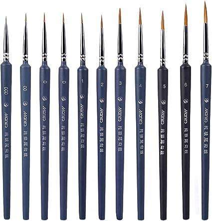 Major Brushes extra fino detalle pincel Conjunto de 5 tamaño 000 para la creación de modelos