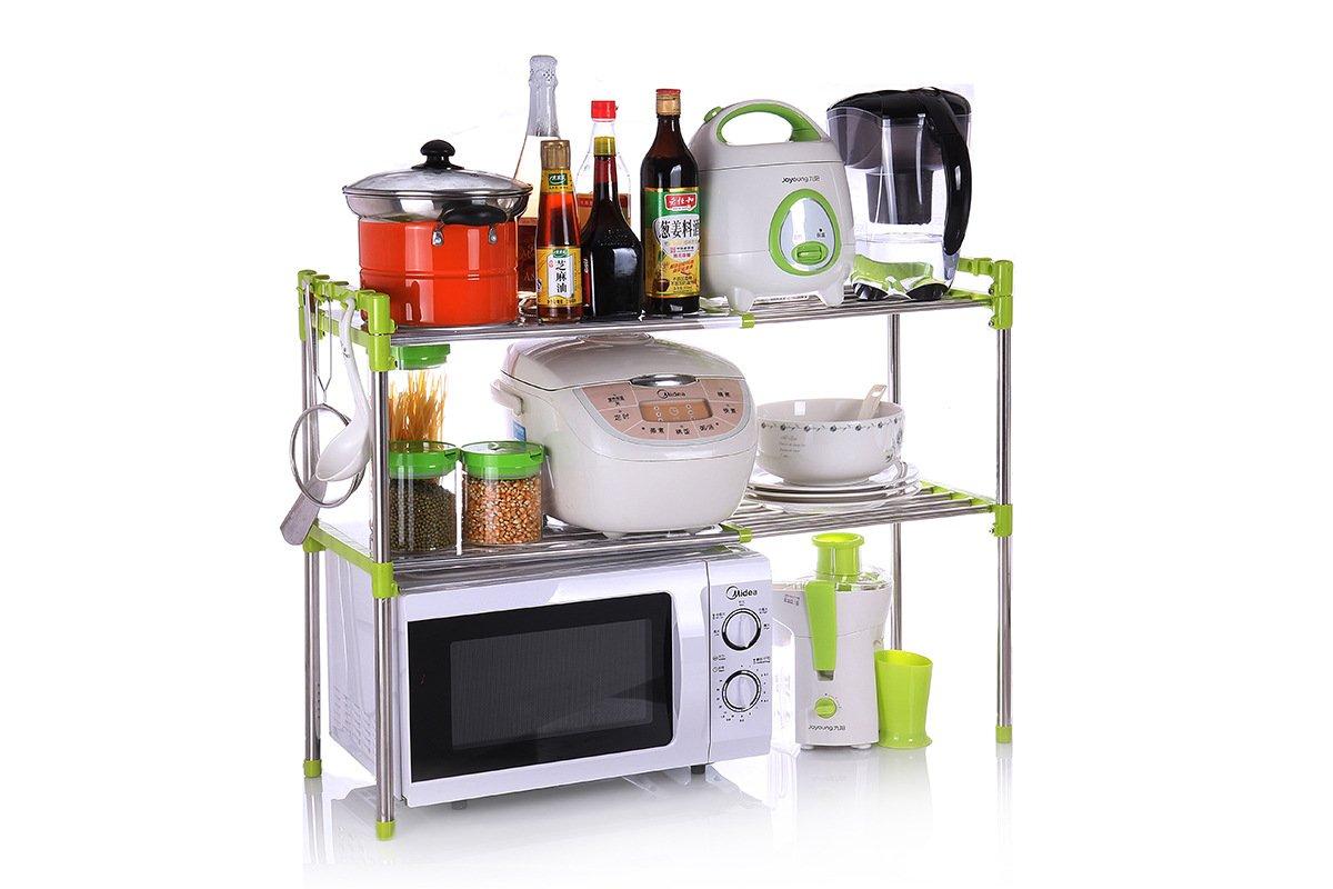 BGmdjcf Microwave Oven Kitchen Racks-Admission Mechanism Stainless Steel Minimalist Racks With Minimalist , Korea ,61Cm30.5Cm498 Green