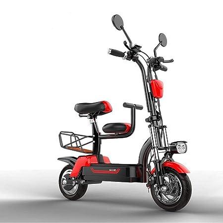 WUS Bicicleta eléctrica Plegable de Dos Ruedas, batería de Iones ...