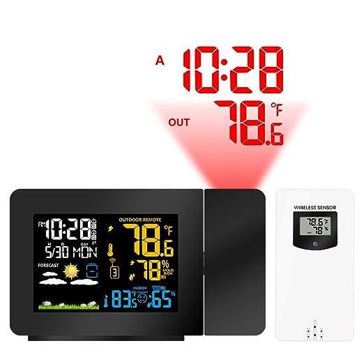 John-L Despertador Proyector, Reloj De Alarma Multifunción, Reloj ...