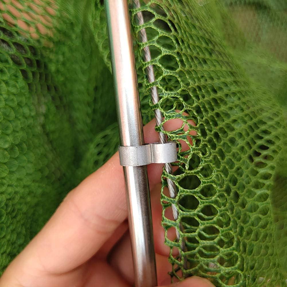sicheres Fangen und Entfernen von Poolm/üll Ecisi Fischernetz 36x20CM Fischkescher Multifunktionsnetz robuster Aluminiumgriff und strapazierf/ähiges Nylonnetz
