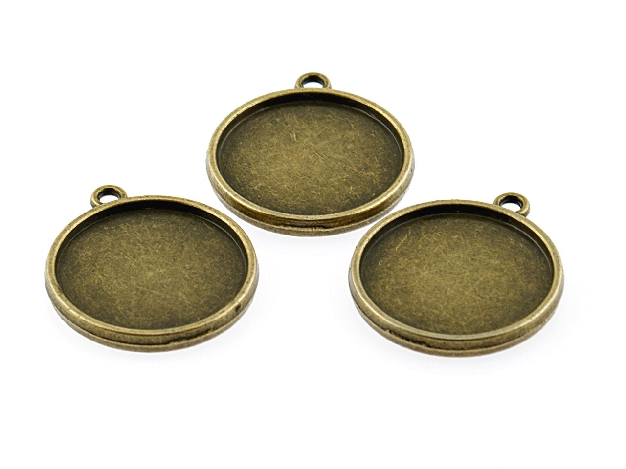 4 doppelseitige Rahmen in antik Bronze für 20 mm Cabochons von ...