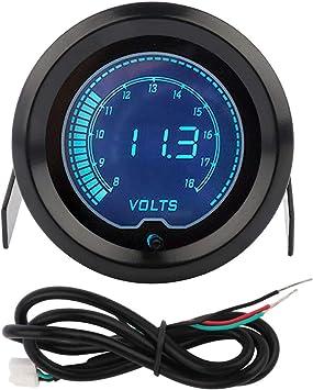 """Good Quality 2/""""52mm LED displayed 8~18V Car volt smoke Gauges Meters Universal"""