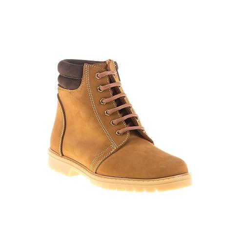 0479fa26 Botas Unisex de niño Fabricada en Piel. Zapatos Tipo Bota para niño y niña.