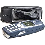 caseroxx Leather-Case with belt clip for Nokia 3310 made of real leather with belt-clip in black