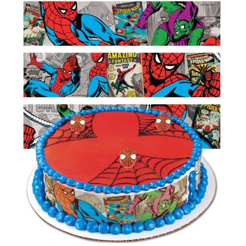 Spiderman Designer Prints Cake Edible Image -