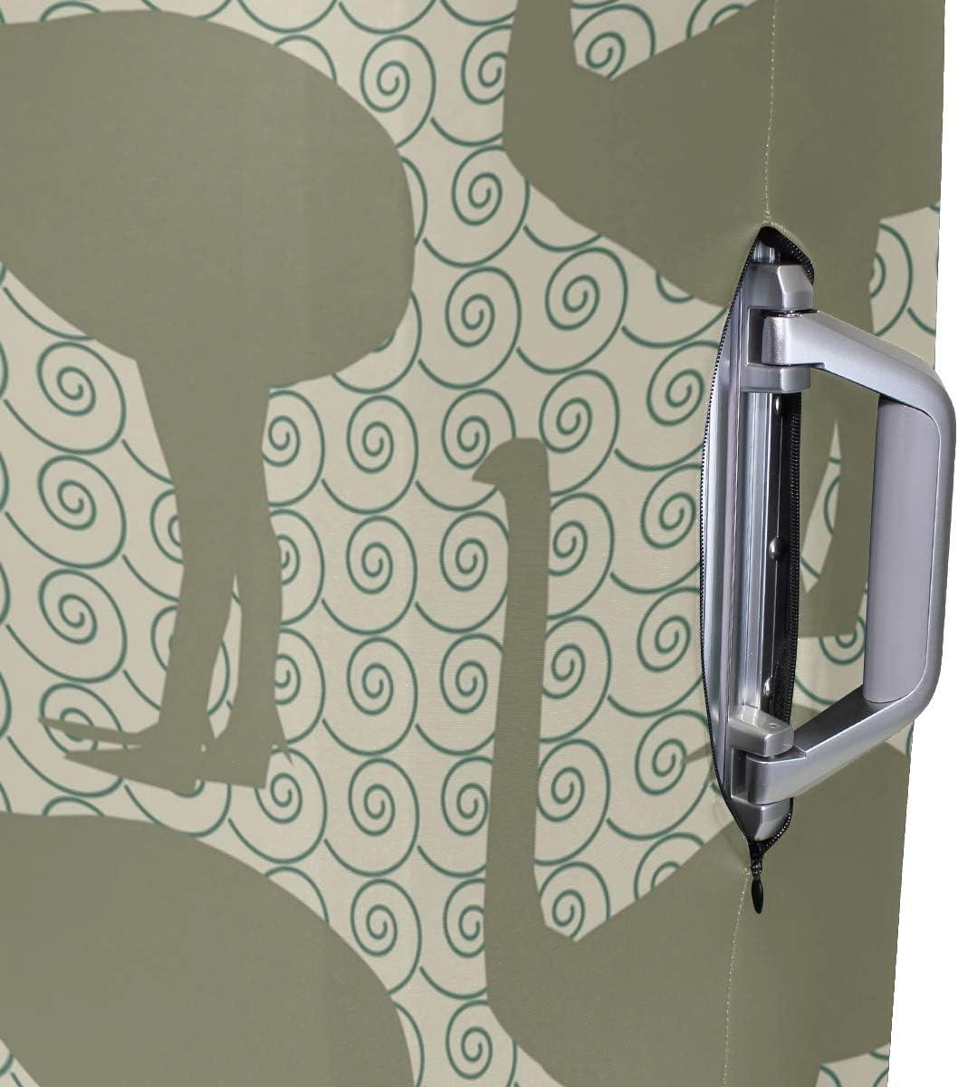 MALPLENA Extinct Animals Inspired Fabric Designs Luggage Protector Suitcase Cover