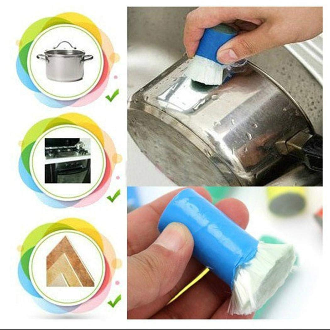 (Pack of 2) Magic Stainless Steel Cleaning Brushes Rod Stick Metal Rust Remover Pot Brush