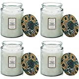 Voluspa French Cade Lavendar Large Embossed Glass Jar Candle ( 4 pk)