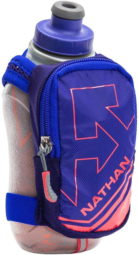 Nathan Insulated Handheld Flask. SpeedShot-Plus. GRIP FREE Running Bottle.
