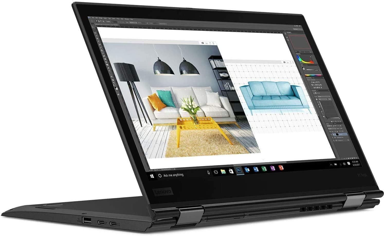 "2020 Lenovo ThinkPad X1 Yoga 3rd Gen 14.0"" WQHD (2560 x 1440) Touchscreen 2-in-1 Business Laptop Computer/ Intel Quad-Core i7 8650U up to 4.2GHz/ 16GB RAM/ 512GB PCIe SSD/ Win10 Pro/ SPMOR Mouse Pad"