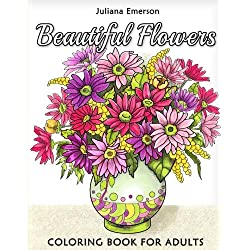 Beautiful Flowers Coloring Book for Adults
