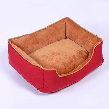 Lamzoom Camas de Perro terapéuticas, Apoyo cálido Cama de Perro Lavable Lujo Suave Lavable Cesta cojín de Cama Perro Mascota cojín Premium Peluche ...