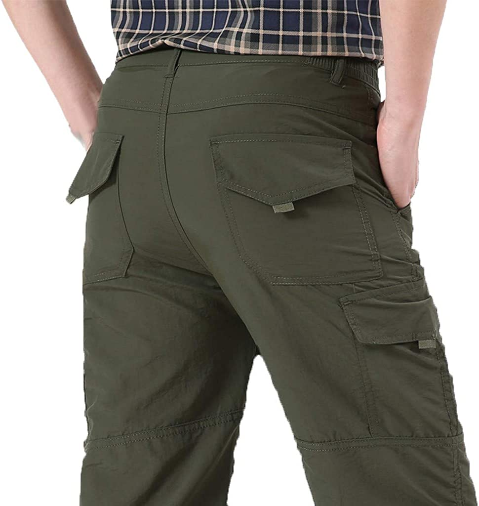 Armfre Bottom Mens Tactical Cargo Pants Relaxed Fit Straight Leg Work Pant Quikly Drying Light