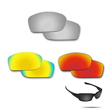50614a0a75 Image Unavailable. Image not available for. Color  Fiskr Anti-Saltwater Polarized  Replacement Lenses for Oakley Fives Squared 3 Pair Pack
