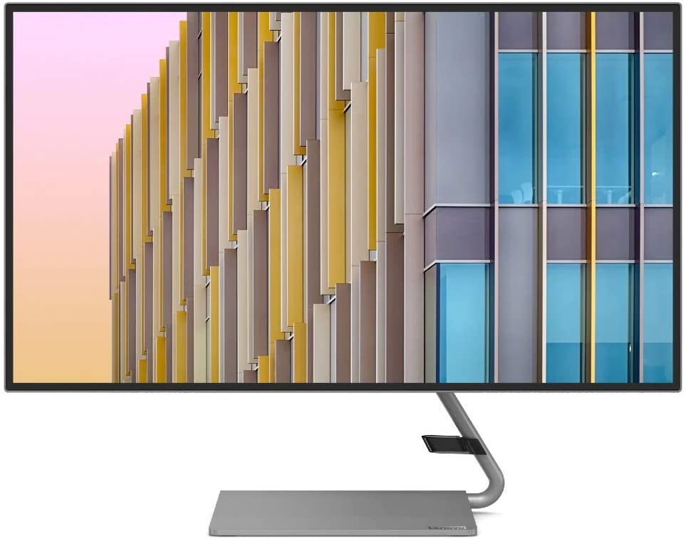 Lenovo Q27h-10 27-Inch Monitor, QHD (2560 x 1440), IPS, LED Backlit, 16:9, AMD FreeSync, USB-C, 4-Side Borderless, 75Hz, 4ms Response Time, 99% sRGB, Tilt, HDMI, DP 1.2, Low Blue Light, 66A7GCC2US