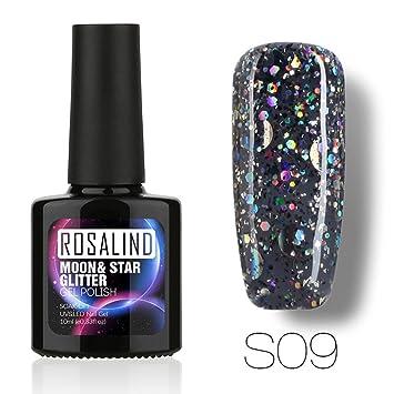 Amazon.com: 0.3 fl oz cielo estrellado gel de uñas para uñas ...