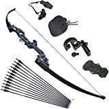 Tongtu Takedown Recurve Bow and Arrows for Adults Set 30 40 lbs Aluminum Alloy Riser Hunting Archery Longbow kit Right…