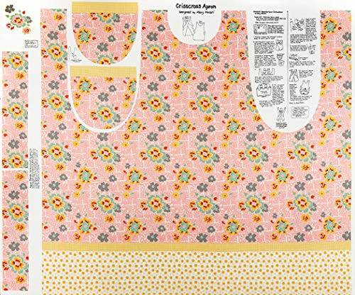 Lemonade Sundae 44'' Apron Panel Fabric, Pink ()