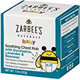 Zarbee's Naturals Baby Soothing Chest Rub with Eucalyptus, Lavender, Beeswax, 1.5 Ounces