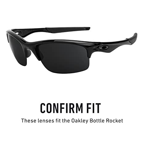 7f6b2fa22a4 Amazon.com  Revant Polarized Replacement Lenses for Oakley Bottle Rocket  Elite Black Chrome MirrorShield  Sports   Outdoors