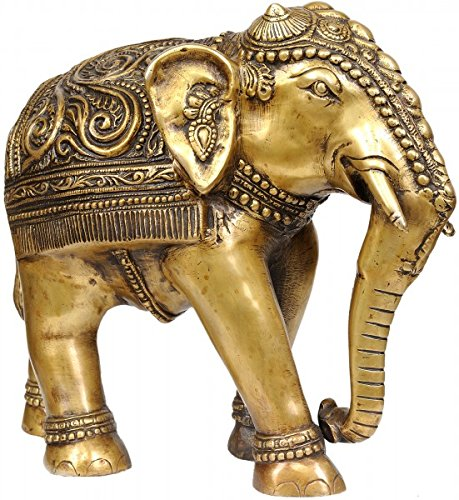 Elephant Brass Decorated (Decorated Elephant - Brass Sculpture)