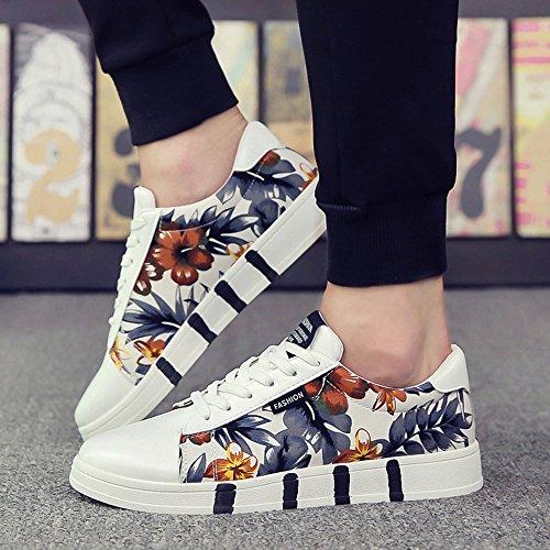 Grau Schuhe Malerei XIANV Mädchen Damen Schuhe Sneaker Bunte Stil Paar Farben weiße Tinte Schuhe Mix Weiß Frau qa4wFnTa