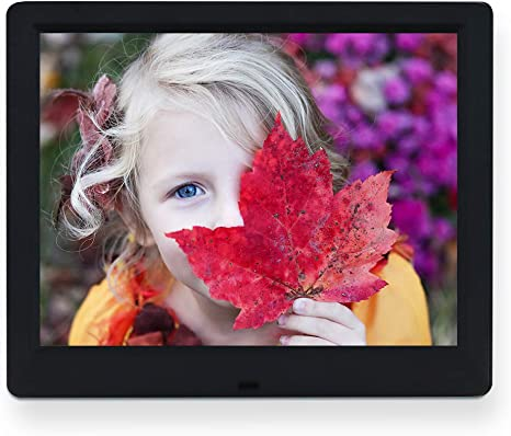 LoMe Digital Photo Frame 15.4-inch HD IPS LCD Screen Electronic Photo Frame with Auto-Rotate//Calendar//Clock Function Mp3//Photo//Video Player with Remote Control