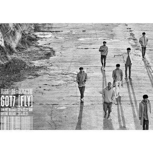 GOT7 - [FLIGHT LOG : DEPARTURE] 5th Mini Album Serenity Ver. CD+100p Photo Booklet+Photo Card+Photo Ticket+Departure Card K-POP Sealed