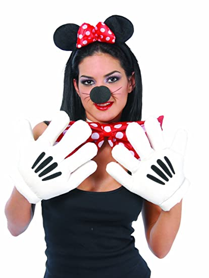 Guantes de manos de Mickey o Minnie - Guantes de mickey mouse para fiesta.