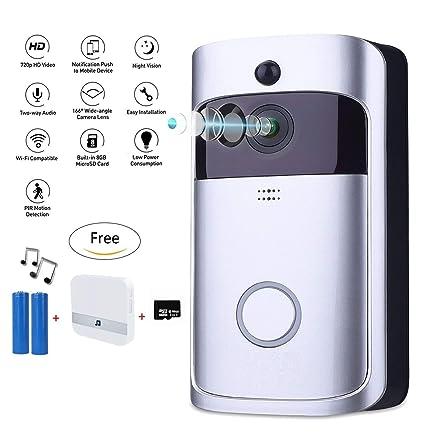 Amazon com : Video Doorbell, WiFi Smart Wireless Doorbell 720P HD