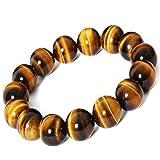 abb82b348b XIAOLI Natural Tiger Eye Gem Beads Tibetan Buddhist Prayer Mala Bracelet  10mm