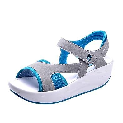 Chaussures À Plateforme Pour mode Bascules Épaisses Respirantes Femmes Semelles Makalon Sandales Décontractées chaussures souliers vynOPNm0w8