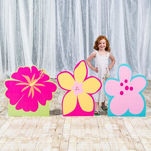 2 ft. 9 in. to 3 ft. 1 in. Hula Honey Flower Standees -