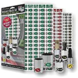 Steellabels Premium Edition Mechanics Master Set (Metric Green S.A.E. Red) chrome foil socket labels universal fit for all socket sets Torx E-Torx Hex Drives Screw Drives best set at the best price