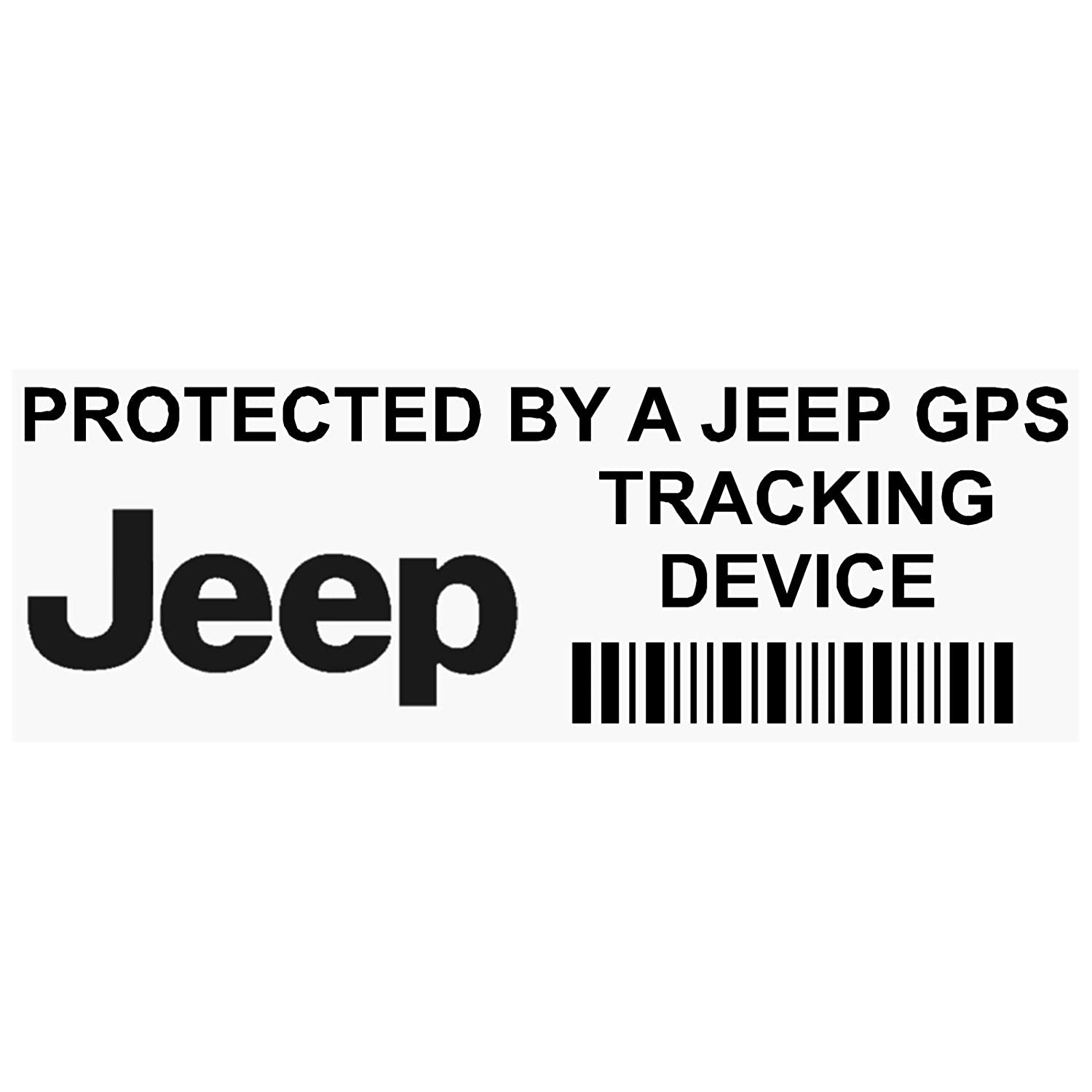 Platinum Place Lot de 5/ autocollants PPJEEPGPSBLK avec inscription de suivi GPS /«/ Tracking Device/ /» 87/ x 30/ mm pour Jeep