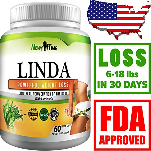LINDA – Weight Loss Pills for Women & Men, Herbal Diet Supplements, Natural Fat Burner and Appetite Suppressant that work fast, Best diet pills 2017