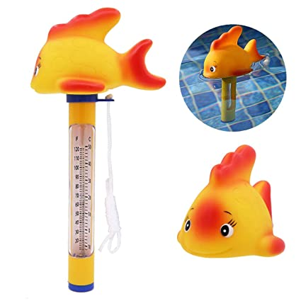 Apol Cute Cartoon Floating Pool Thermometer Swimming Pool Water Thermometer  with String for Outdoor & Indoor Swimming Pools Spas Hot Tubs Jacuzzis ...