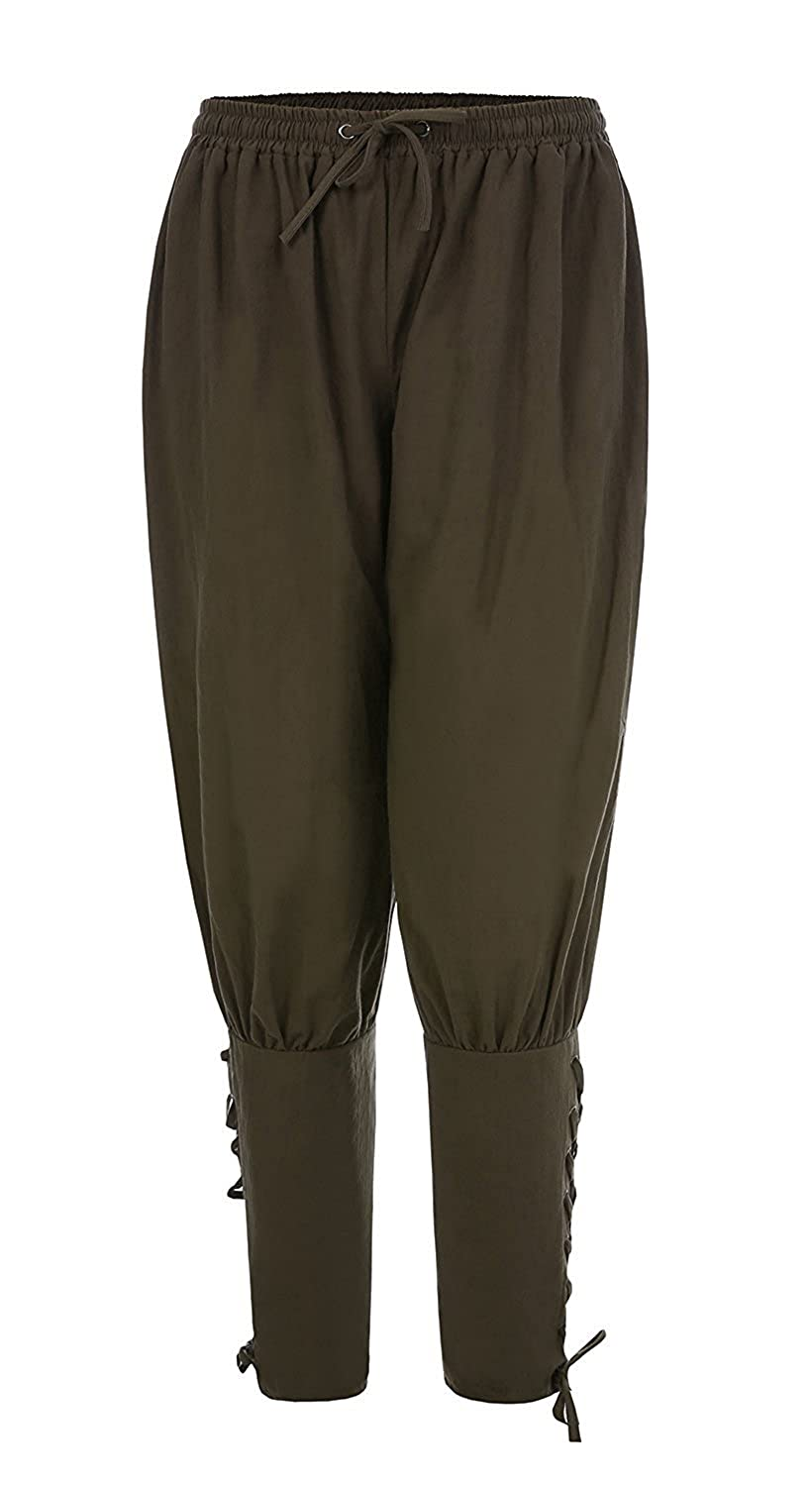 Men's Ankle Banded Pants Medieval Viking Navigator Trousers Renaissance Pants