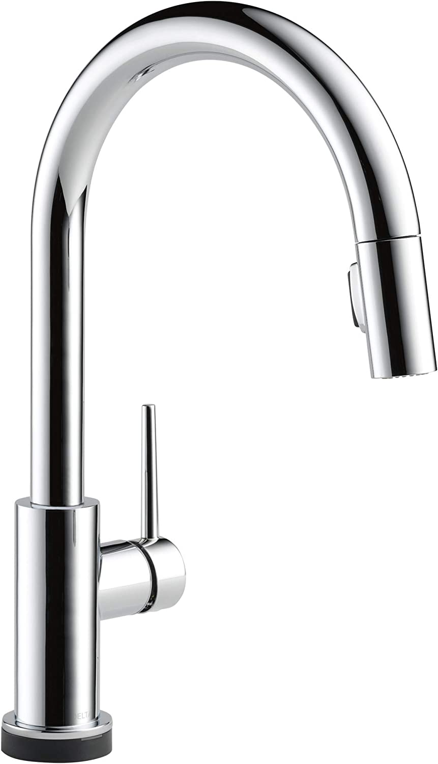 Delta Faucet Trinsic Voiceiq Single Handle Touch Kitchen Sink Faucet With Pull Down Sprayer Alexa And Google Assistant Voice Activated Smart Home Chrome 9159tv Dst Amazon Com