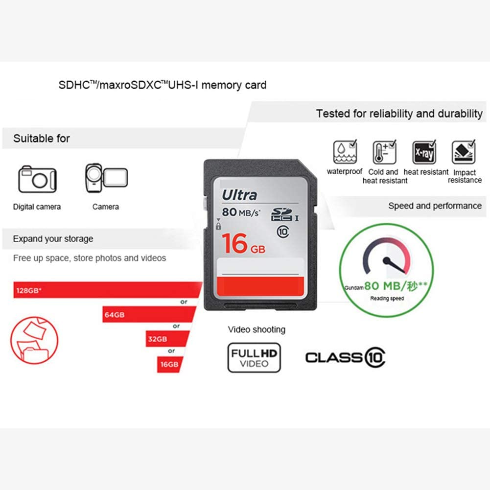 Aijin SD Card Microsdhc SDXC UHS-I Memory Card Micro SD Card TF Card 80MB//S Class10 U3 Waterproof Extreme Temperature Shock Resistant for Camera,32GB